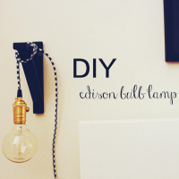 Apartment Living // DIY Edison Bulb Lamp